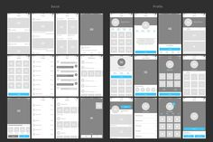 Bones IOS Wireframe Kit (Graphic) by Web Donut · Creative Fabrica Wireframe Design, App Design, Your Design, App Wireframe, Ios, Creative Typography, Ui Kit, Creative Words, Mobile App