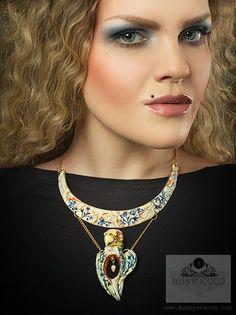 #bird #scull #bon #EllenRococo #kiev #jewelry #polymer_clay #neckless