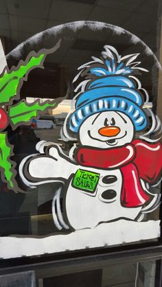 Snowmen Christmas Door, Country Christmas, Christmas Time, Holiday, Window Art, Window Decals, Daycares, Store Fronts, Snowmen