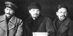 И. В. Сталин, В. И. Ленин и М. И. Калинин
