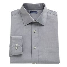 e0a78b0adf2c9 Croft & Barrow® Fitted Core Pinpoint Solid No-Iron Spread-Collar Dress Shirt  - Men