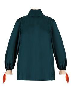 Roksanda Nivala silk-twill tunic top