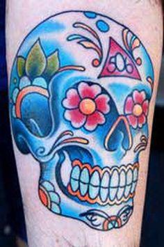 b8a4f81f3a88b Sugar Skull Tattoos for Halloween.halloween skull tattoo for fashion girls  #skull #tattoo