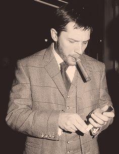 Tom Hardy has a HUGE cigar :P