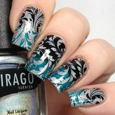 This stamping plate has an array of damask and flower designs to give your #nails beautiful floral nails. Gorgeous nails by cdbnails143, de.lish.ious.nails, lina88makeup, and dsetterfield74