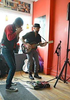 James Clark on Harp with Sean Poluk  in Toronto @ Village Vinyl Music