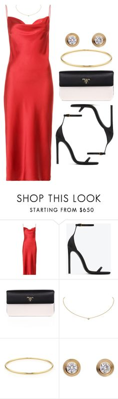 """Sin título #13283"" by vany-alvarado ❤ liked on Polyvore featuring Fleur du Mal, Yves Saint Laurent, Prada, Cartier and Tiffany & Co."