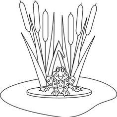 coloringpagesofaroundthepond Lily Pad Frog Love to Sit