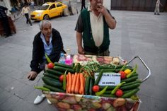 Who says street food has to be unhealthy? This is the Cucumber Man at Galata Tower, Istanbul