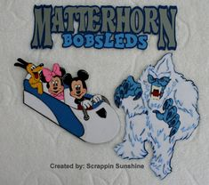 DISNEY MATTERHORN Bobsleds Scrapbook Page Paper Piecing Pieces Set - SSFF on Etsy, $22.00