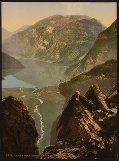 """Selection of images from """"Landscape and marine views of Norway"""" a set in the Library of Congress ' Photochrom Prints Collect. Wonderful Places, Beautiful Places, East Of The Sun, Image Theme, Alesund, Library Of Congress, Beautiful World, Norway, Art Prints"""