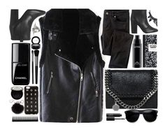 """All Black Everything"" by monmondefou ❤ liked on Polyvore featuring Illamasqua, Laurence Dacade, MAC Cosmetics, Wrap, STELLA McCARTNEY, Chanel, Shany, GHD, NARS Cosmetics and MICHAEL Michael Kors"