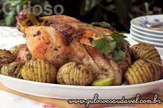 #BomDia! Quer um #almoço simples e delicioso? Este Frango Assado ao Molho de Chimichurri é sucesso certo!  #Receita aqui: http://www.gulosoesaudavel.com.br/2014/04/08/frango-assado-molho-chimichurri/
