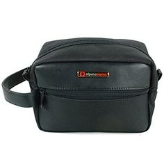 Alpine Swiss Hudson Travel Toiletry Bag Shaving Dopp Kit Black Mens