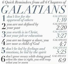 Reminders from Galatians