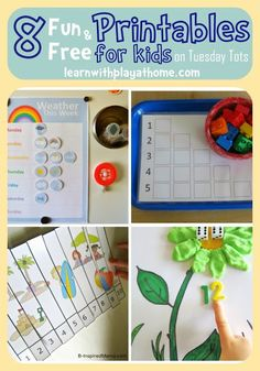 Learn with Play at home: 8 Fun and Free Printables for Kids