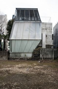 Thats architecture students for you! Small House by Kazuyo Sejima Photographed by Jon Reksten Japanese Architecture, Space Architecture, Architecture Details, Environment Design, Built Environment, Prefabricated Houses, Unusual Homes, Facade Design, Brutalist