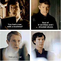 Sherlock had to have known the truth, right? Or at least suspected. Sherlock Holmes, Sherlock Fandom, Sherlock Humor, Sherlock John, Vatican Cameos, Mrs Hudson, Sherlolly, Steven Moffat, 221b Baker Street