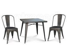 Sedie Di Metallo Vintage : Dakota sedia metallo old style seduta legno sedie vintage e