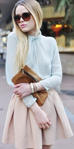 Pastel love. Strategically careless and minimalistic... and it's working. xx Dressed to Death xx #streetstyle #love #inspiration