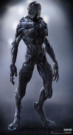 Falling Skies - Alien Suit design by Nemolato - Luca Nemolato - CGHUB Creature 3d, Creature Design, Alien Creatures, Fantasy Creatures, Alien Soldier, Alien Suit, Science Fiction, Zbrush, Falling Skies