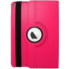 EGC Leather 360-degree Rotating Stand iPad Air 2 Case - Hot Pink