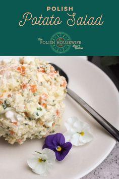 A Polish potato salad that is full of flavor! Polish Recipes, Polish Food, Salad Recipes, Coleslaw Recipes, Polish Easter, Great Recipes, Favorite Recipes, Crazy Kitchen, Lent