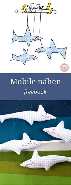 ... Anlaitung für dieses Hai Mobile fürs Kinderzimmer. Free Download