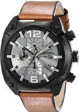 Diesel Men's DZ4317 Overflow Analog Display Quartz Movement Brown Watch