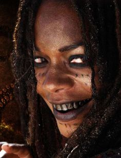 Tia Dalma... dark stained teeth (I ordered yellow and black tooth enamel)