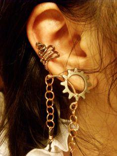 Slave to Steampunk Ear Cuff by Jynxsbox on Etsy, $17.00