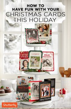 The holidays are a time that bring people together. Create magical memories and capture unique moments with Shutterfly's creative photo cards. Pin these ideas now and then share your family's story and look through over 857 customizable holiday cards that will spread holiday cheer! Christmas Card Display, Custom Christmas Cards, Personalised Christmas Cards, Christmas Photo Cards, Christmas Love, Christmas Greeting Cards, Christmas Greetings, Christmas Decorations, Vintage Christmas