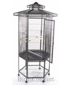 AE Hexagonal Aviary Bird Cage  with Pagoda Top 27x30