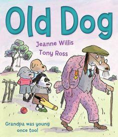 Old Dog by Jeanne Willis et al., http://www.amazon.co.uk/dp/1842708805/ref=cm_sw_r_pi_dp_HRFitb1AWW7MX