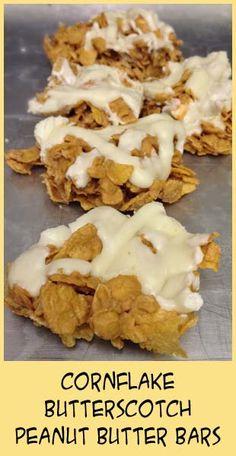 Cornflakes, Butterscotch & Peanut Butter - no bake goodness.