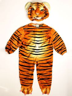 Kids Tiger Costume 2-4 Years Animal Suit Unisex #tiger #Suit