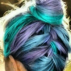 bluish green hair - Google Search