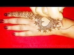 Heart Mehndi Designs for Valentine's day || Alphabet 'S' tattoo mehndi design || henna designs 2019 - YouTube