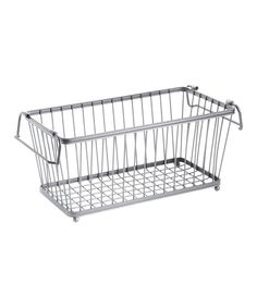 Look at this Silver Stackable Basket on #zulily today!
