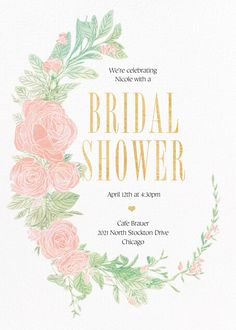 Showers and parties | Send online instantly | RSVP tracking Paperless Post, June 4th, Starling, Bridal Shower Invitations, Tool Design, Rsvp, Showers, Parties, Baby Shower
