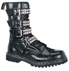 Attitude Clothing - Alternative, Gothic, Punk, Rock Clothing, Shoes, Brands + Accessories - Demonia Gravel 10S Boot