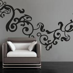 Vine Flourish Wall Sticker | WallStickerShop.com