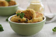 Crocchette di miglio e zucchine.Il miglio è un cereale molto salutare, quindi unito a delle verdure, è un modo per far mangiare qualcosa di sano ai bambini.