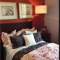 Master Bedroom Red/ Gray/Brown