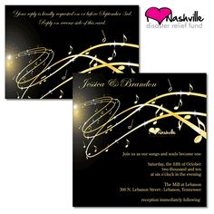 wedding invitations with musical theme | ... | Nashville Wedding Guide for Brides, Grooms - Ashley's Bride Guide