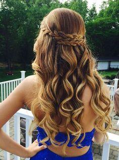 Hoco hair inspo — loving the braided look! <3