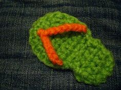 Flip Flop Applique. Free Pattern from Itty Bitty Creations.