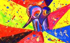 Baby African Elephant Pop Art Canvas Print / Canvas Art by Julia Fine Art And… Acrylic Painting Tips, Free Canvas, African Elephant, African Art, Art Google, Canvas Art Prints, Pop Art, Fine Art, Abstract