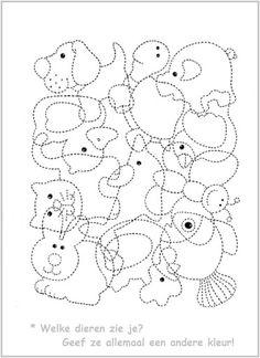Preschool Colors, Preschool Writing, Preschool Worksheets, Animal Activities, Motor Activities, Classroom Activities, Art For Kids, Crafts For Kids, Early Math