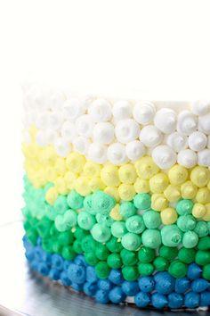 Spring Ombre Dot Cake